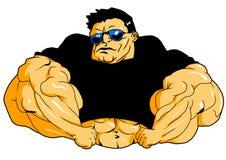 Bodybuilder musculaire superbe Image libre de droits
