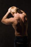 Bodybuilder muscular Imagen de archivo libre de regalías