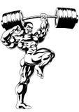 Bodybuilder muscular Foto de archivo libre de regalías