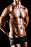 Bodybuilder with muscular body Royalty Free Stock Photos