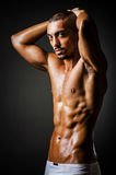 Bodybuilder with muscular body Stock Images
