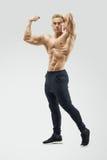 Bodybuilder with muscular physique Stock Photos