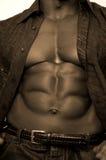 Bodybuilder nero Fotografie Stock Libere da Diritti