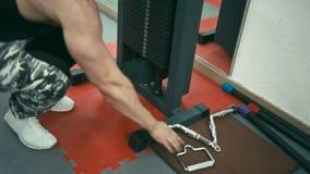 Bodybuilder no gym filme