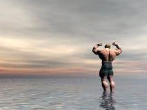 Bodybuilder nove ilustração do vetor