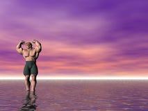 Bodybuilder oito ilustração royalty free