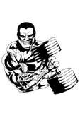 Bodybuilder in opleiding vector illustratie