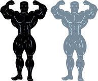 Bodybuilder pose Stock Images