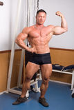 Bodybuilder posing Royalty Free Stock Image