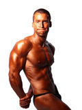 Bodybuilder posing Stock Images