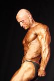 Bodybuilder posing Stock Photography