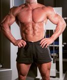 Bodybuilder posing Stock Image