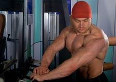 Bodybuilder posing Royalty Free Stock Images