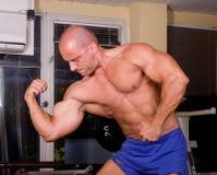 Bodybuilder posing Royalty Free Stock Photography
