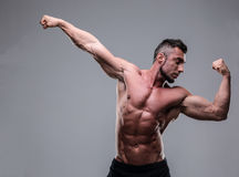 Bodybuilder posing Royalty Free Stock Photography