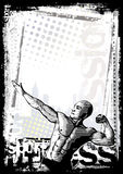 Bodybuilder poster background Stock Photography