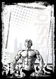 Bodybuilder poster background Royalty Free Stock Photo