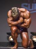 Bodybuilder pozy jako statua Zdjęcia Royalty Free
