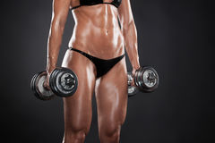 Bodybuilder Pracujący Out. Obrazy Royalty Free