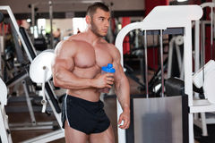 Bodybuilder protein shake Royalty Free Stock Photos