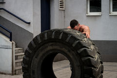 Bodybuilder Resting After Crossfit training Stock Photography
