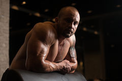 Bodybuilder Resting Royalty Free Stock Photography