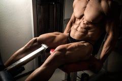 Bodybuilder's quads Royalty Free Stock Photo