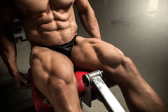 Bodybuilder's quads Stock Photos