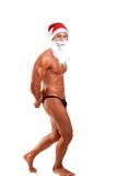 Bodybuilder santa claus Stock Photos