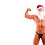 Bodybuilder santa claus Royalty Free Stock Images