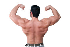 Bodybuilder showing muscle. Stock Photos
