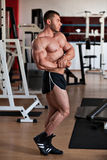 Bodybuilder side chest Royalty Free Stock Images