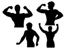 Bodybuilder silhouette vector Stock Photo