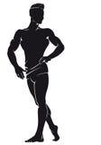Bodybuilder Silueta del vector Imagenes de archivo