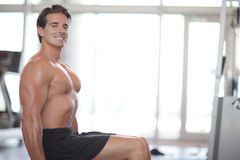 Bodybuilder smiling Stock Image