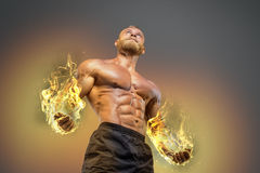 Bodybuilder sportif d'homme de puissance belle photographie stock