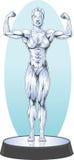 Bodybuilder statue Stock Photography
