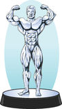 Bodybuilder statue Stock Photo