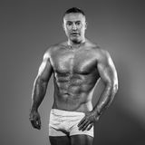 Bodybuilder in studio Royalty Free Stock Photos