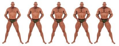 Bodybuilder sukcesu transformacja Zdjęcia Royalty Free