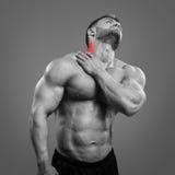 Bodybuilder szyi ból Zdjęcia Stock