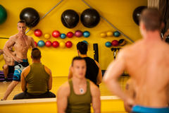 Bodybuilder train posing before the competition royalty free stock photography