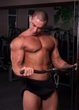 Bodybuilder training Stock Images