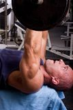 Bodybuilder training. In the gym Stock Photography