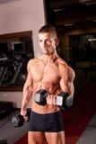 Bodybuilder training Stock Photo