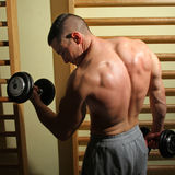 Bodybuilder udźwigu ciężary fotografia royalty free