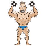 Bodybuilder.Vector d'isolement sur le blanc. Images libres de droits