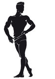 Bodybuilder. Vector silhouette Stock Images