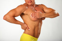 Bodybuilder woman. Champion of Ukraine L.Tihonchuk Stock Photography