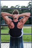 Bodybuilder workout Royalty Free Stock Image